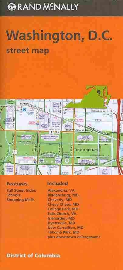 Rand Mcnally Washington D.c. Street Map By Rand McNally and Company (COR)